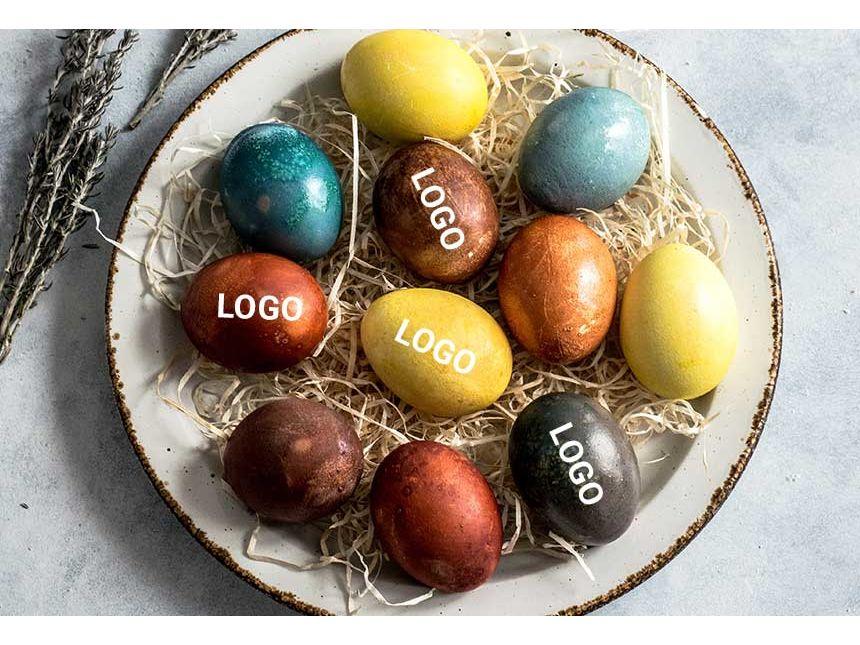 Ostereier mit Logo bedrucken | © allbranded Design