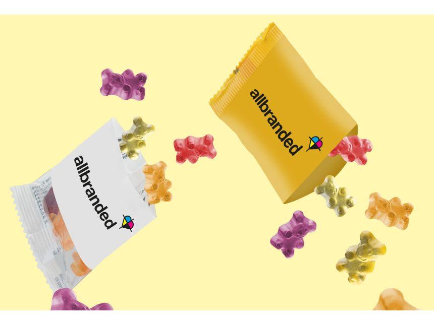 Fruchtgummi als Mailingbeilage | © allbranded Design