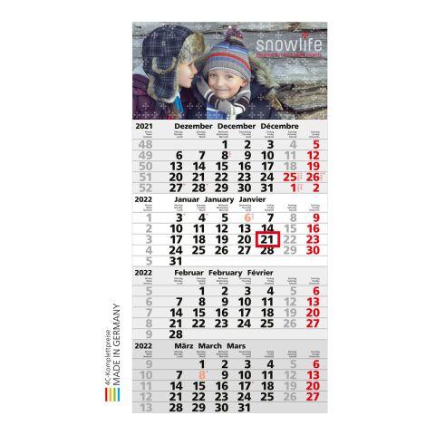 Einblatt-Monatskalender Mega 4 Post A Complete Standard | hellgrau | 4C-Digitaldruck