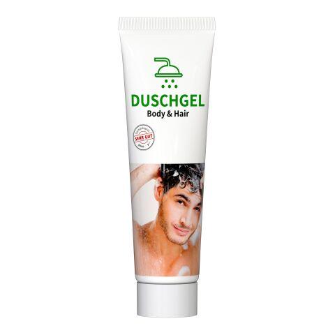 "20 ml Tube, weiß - Duschgel ""Body & Hair"" - RealityPrint"
