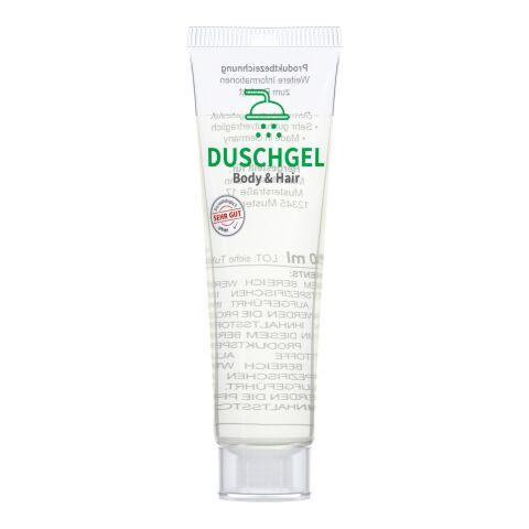 "20 ml Tube, kristallklar - Duschgel ""Body & Hair"" - RealityPrint"