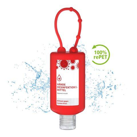 50 ml begrenzt viruzides Hände-Desinfektionsmittel – Bumper Rot   ohne Werbeanbringung
