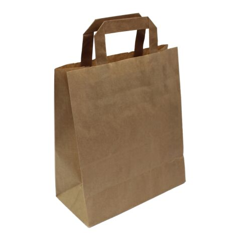 Krafttasche flacher Henkel braun | 18 x 8,5 x 23 cm | ohne Werbeanbringung | ohne Werbeanbringung