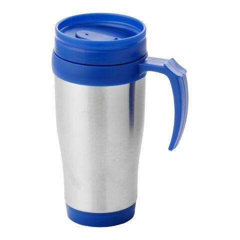 Sanibel 400 ml Isolierbecher silber-blau | ohne Werbeanbringung | Nicht verfügbar | Nicht verfügbar