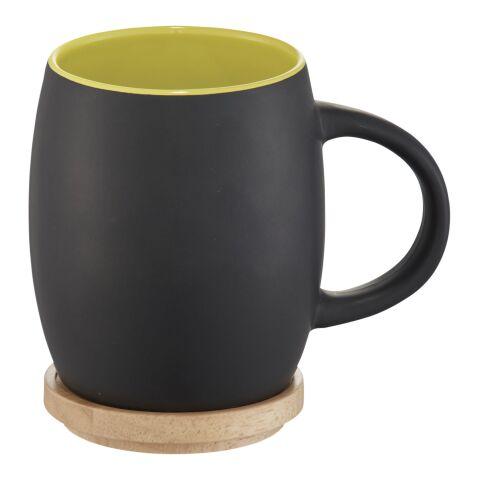 Hearth Keramiktasse mit Holz Deckel & Untersetzer