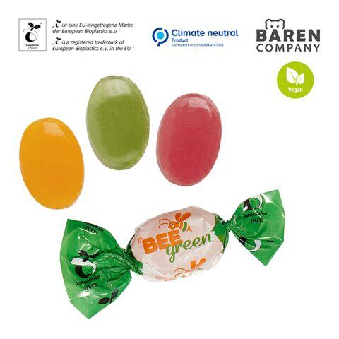 Bonbons im Werbewickel weiß | 1-farbiger Druck | Kirsche