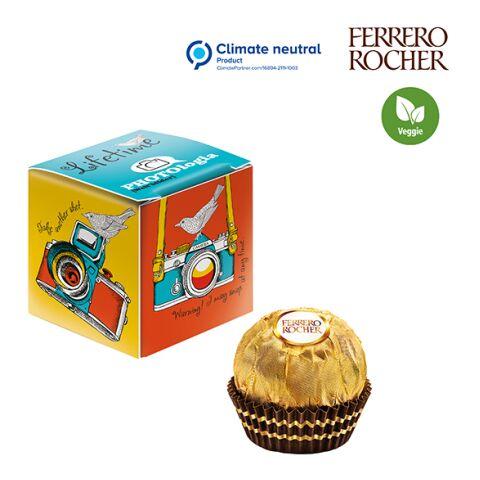 Mini Promo-Würfel mit Ferrero Rocher weiß   1-farbiger Druck