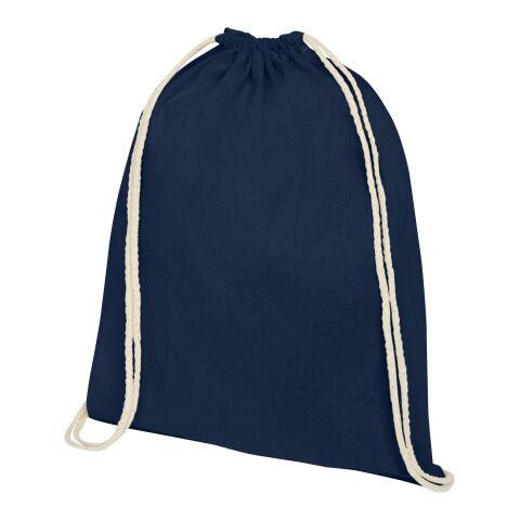 Oregon Premium Sportbeutel marineblau | 3-farbiger Siebdruck | Vorderseite | 230 mm x 320 mm