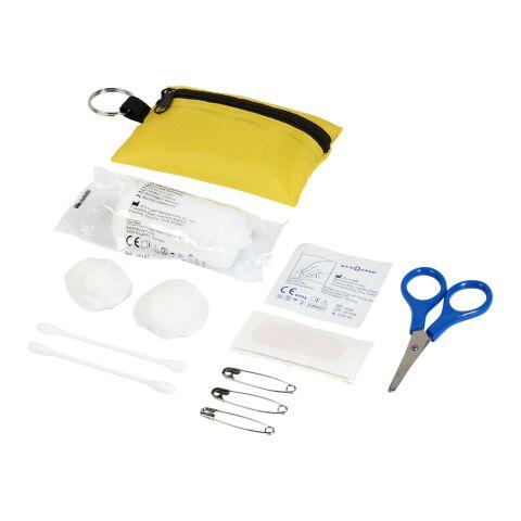 Valdemar 16-teilige Erste-Hilfe-Tasche mit Schlüsselanhänger gelb | ohne Werbeanbringung | Nicht verfügbar | Nicht verfügbar