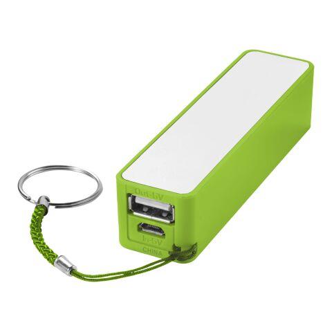 Jive Powerbank 2000 mAh Standard | limettengrün-weiss | ohne Werbeanbringung | Nicht verfügbar | Nicht verfügbar | Nicht verfügbar