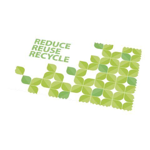 Caro kleines Reinigungstuch aus recyceltem PET Kunststoff Weiß | ohne Werbeanbringung | Nicht verfügbar | Nicht verfügbar