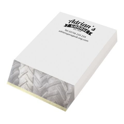 Wedge-Mate® A7 Notizblock weiss | 4-farbige Lithographie | Blätter | 74 mm x 105 mm