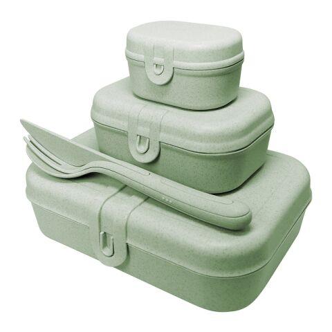koziol Lunchbox-Set + Besteck-Set PASCAL READY grün | Nicht verfügbar | ohne Werbeanbringung | ohne Werbeanbringung | ohne Werbeanbringung