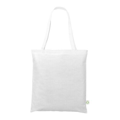 Recycling-Tasche 38x42 cm lange Henkel weiß   ohne Werbeanbringung   ohne Werbeanbringung