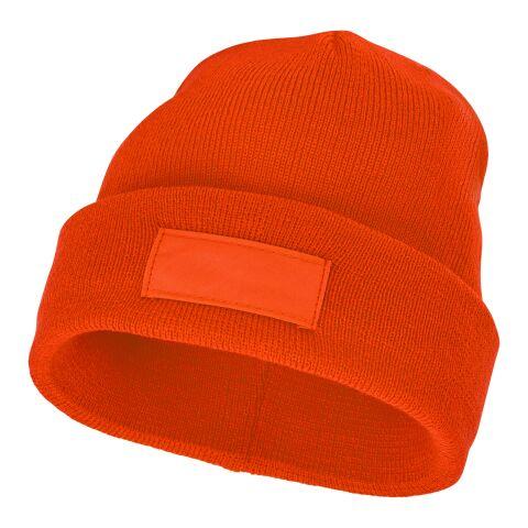 Boreas Mütze mit Aufnäher orange | ohne Werbeanbringung | Nicht verfügbar | Nicht verfügbar