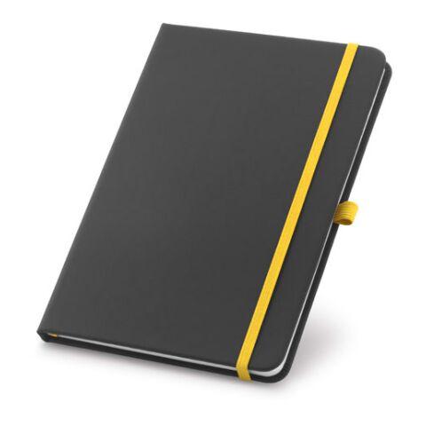 Notizbuch mit Stifthalter Gelb | ohne Werbeanbringung