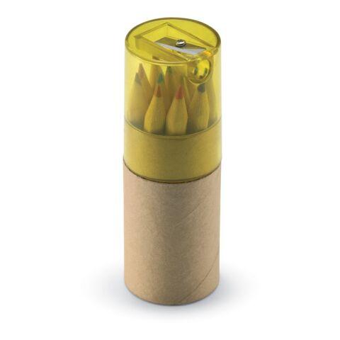 12 Buntstifte mit Bleistiftspitzer