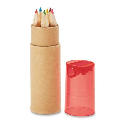 6-teiliges Buntstifte-Set mit Anspitzer