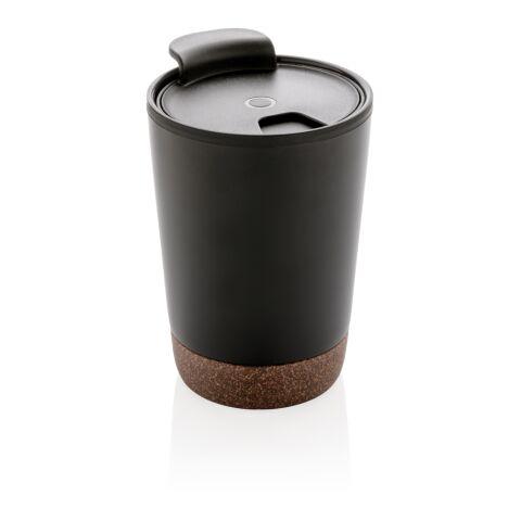 Kork Kaffeebecher schwarz | ohne Werbeanbringung | Nicht verfügbar | Nicht verfügbar | Nicht verfügbar
