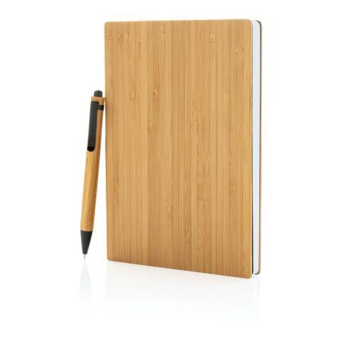 A5 Bambus Notizbuch & Stift braun | ohne Werbeanbringung | Nicht verfügbar | Nicht verfügbar