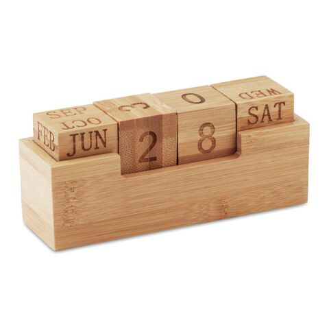 Kalender Bambus holzfarben | ohne Werbeanbringung | Nicht verfügbar | Nicht verfügbar