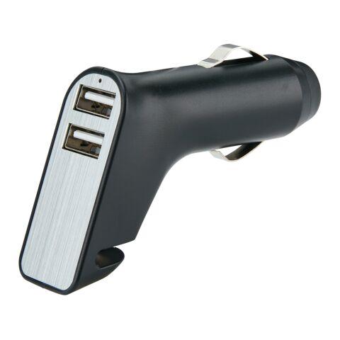 Dual USB Ladegerät schwarz-silber | ohne Werbeanbringung | Nicht verfügbar | Nicht verfügbar | Nicht verfügbar