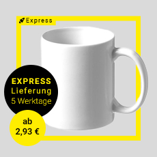 Express Tasse in 5 Werktagen