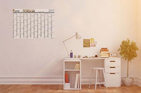 Wandkalender mit Offset